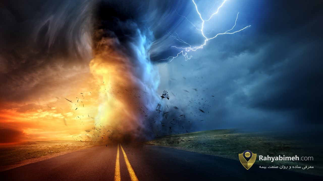 پوشش طوفان گرد باد و طوفان